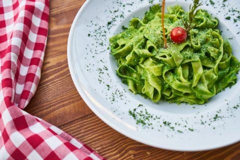 makkelijke pasta spinazie
